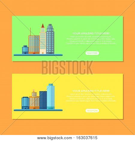 Header Or Banner Website Collection Management own Building, From small until Big