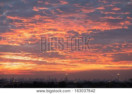 Beautiful twilight sky at sunset, use for background and backdrop