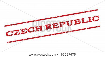 Czech Republic watermark stamp. Text tag between parallel lines with grunge design style. Rubber seal stamp with dirty texture. Vector red color ink imprint on a white background.