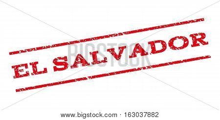 El Salvador watermark stamp. Text caption between parallel lines with grunge design style. Rubber seal stamp with scratched texture. Vector red color ink imprint on a white background.