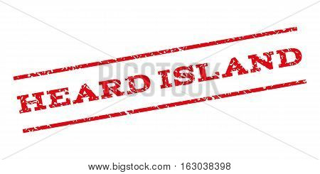 Heard Island watermark stamp. Text tag between parallel lines with grunge design style. Rubber seal stamp with dirty texture. Vector red color ink imprint on a white background.