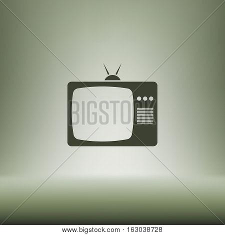 Tv Icon. Flat Design Style. Vector Illustration