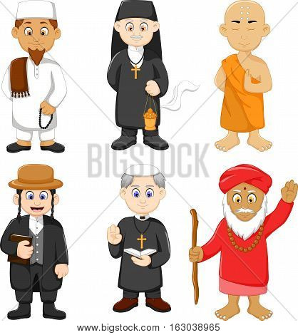 collection of religious leader cartoon for you design