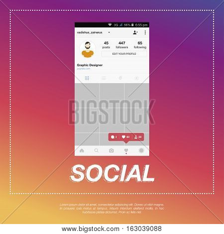 Mobile application and Icon for social network. counter notification like icons follower icons comment icons. Vector 10 eps.