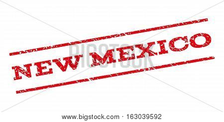 New Mexico watermark stamp. Text caption between parallel lines with grunge design style. Rubber seal stamp with dust texture. Vector red color ink imprint on a white background.