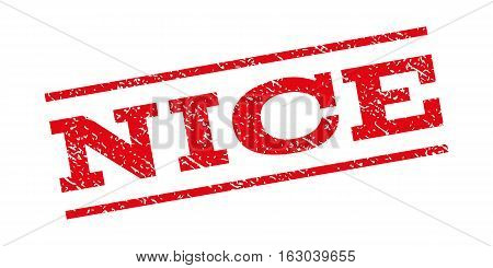 Nice watermark stamp. Text caption between parallel lines with grunge design style. Rubber seal stamp with unclean texture. Vector red color ink imprint on a white background.