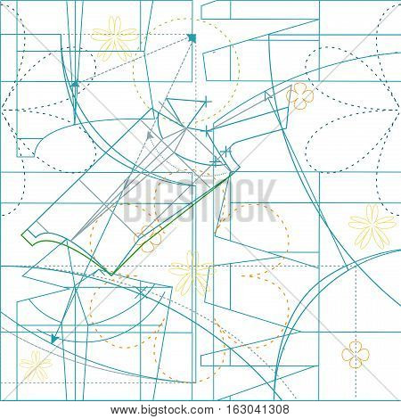 Seamless dressmaking pattern. Illustration in vector format