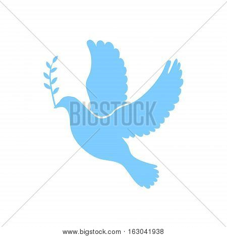 Dove of peace simple icon. Flying dove of peace icon art. Peace concept icon. Pacifism concept image. Dove of peace icon web. Dove of peace icon app. Dove of peace vector icon sign. Vector illustration