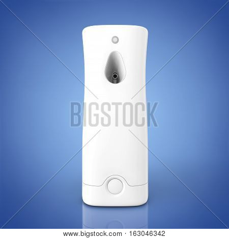 Plastic Automatic Air Fresheners on a blue background. 3d Rendering