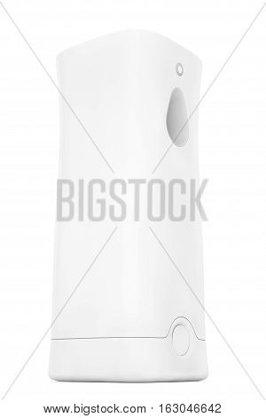 Plastic Automatic Air Freshener on a white background. 3d Rendering