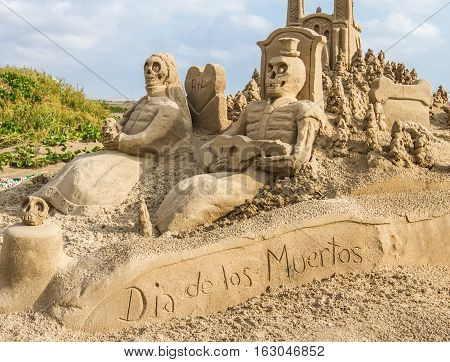A sandcastle featuring the