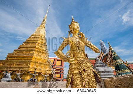 Decorated of Royal grand palace and Temple of the Emerald Buddha in Bangkok.