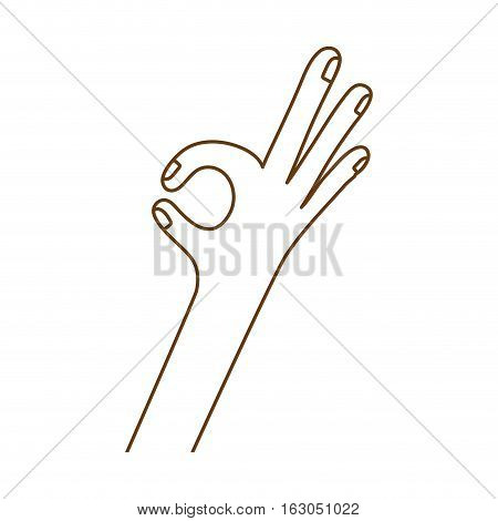 Human hand icon. Finger gesture palm and communication theme. Isolated design. Vector illustration