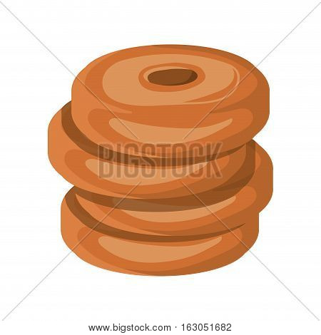 Donut icon. Bakery food shop traditional and product theme. Isolated design. Vector illustration