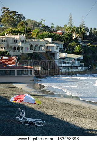 Colorful Beach Umbrella On A Beach In Southern California - 2