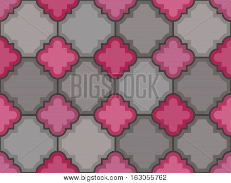 Vector stones floor tile seamless pattern. Abstract tile wall illustration