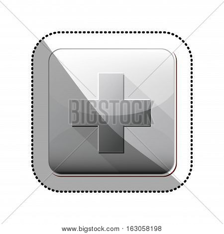 Cross icon. Medical heath care and hospital theme. Isolated design. Vector illustration
