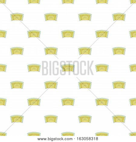 Football goal pattern. Cartoon illustration of football goal vector pattern for web