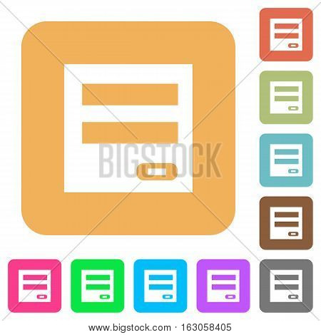 Login panel icons on rounded square vivid color backgrounds.