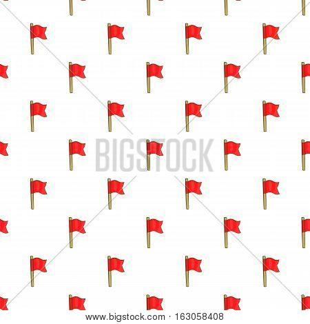 Football flag pattern. Cartoon illustration of football flag vector pattern for web