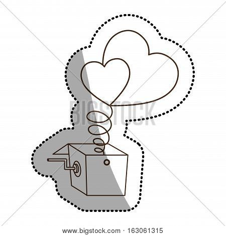 Heart and box icon. Love passion romantic and health theme. Isolated design. Vector illustration