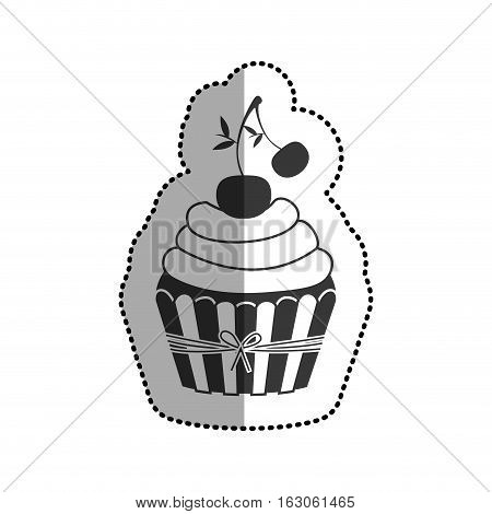 Muffin icon. Cupcake dessert sweet and bakery theme. Isolated design. Vector illustration
