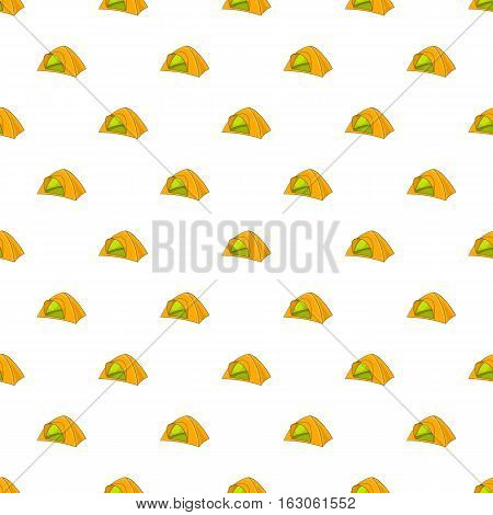 Tent pattern. Cartoon illustration of tent vector pattern for web