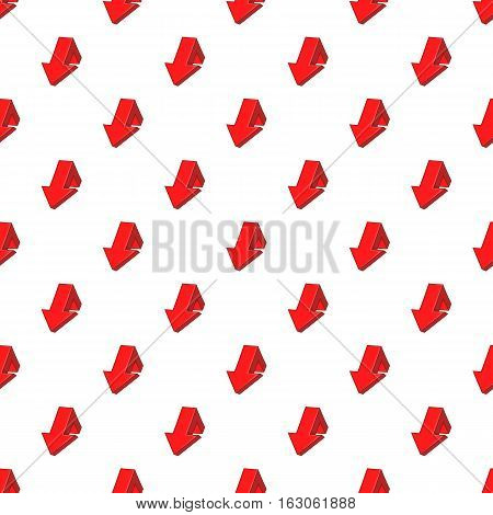 Large arrow shows down pattern. Cartoon illustration of large arrow shows down vector pattern for web