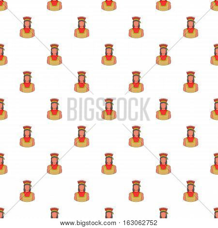 American indian pattern. Cartoon illustration of American indian vector pattern for web
