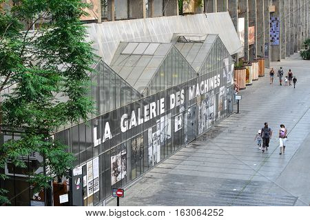 France, Nantes - July 26, 2014: Landmark Nantes - Gallery Cars. Entrance To The Museum.
