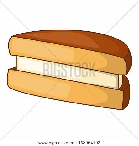 Biscuit icon. Cartoon illustration of biscuit vector icon for web design