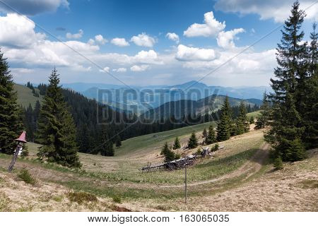 Landscape in Great Fatra mountains in Slovakia