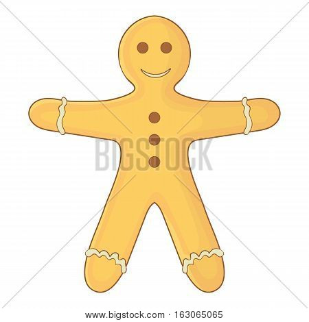 Gingerbread man icon. Cartoon illustration of gingerbread man vector icon for web design