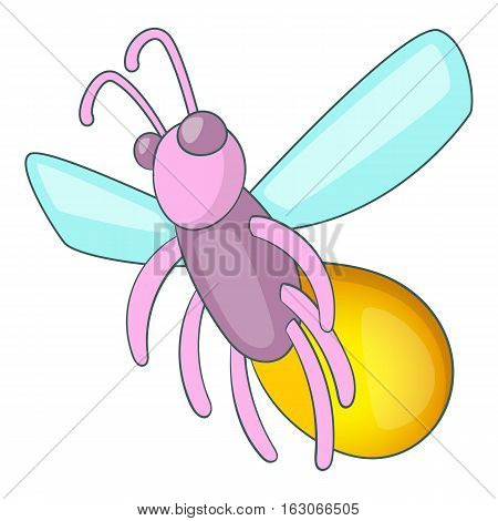 Firefly icon. Cartoon illustration of firefly vector icon for web design