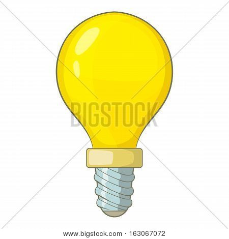 Lightbulb icon. Cartoon illustration of lightbulb vector icon for web design