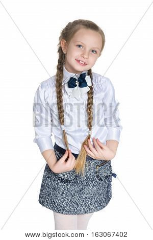Young Girl With Pigtails