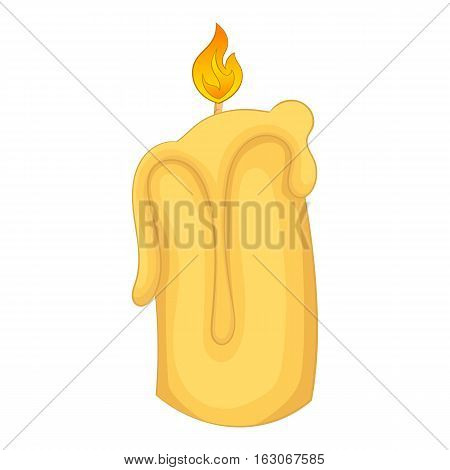Candle flame icon. Cartoon illustration of candle flame vector icon for web design
