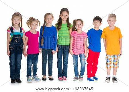 Group Of Children Stand Together