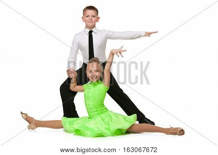 Happy Boy And Girl Are Dancing