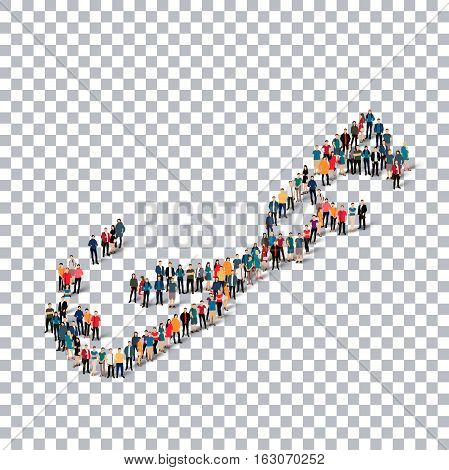 Isometric set of styles, people, map of Bermuda , country, web infographics concept of crowded space, flat 3d. Crowd point group forming a predetermined shape. Creative people.  illustration. Photo .3D illustration. Transparent background . Isolated.
