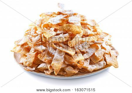 Angel wings (Faworki) cakes deep-fried in oil to celebrate Fat Thursday