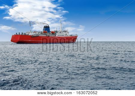 Ships dock port cargo handler blue sea work