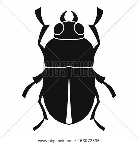 Bug icon. Simple illustration of bug vector icon for web