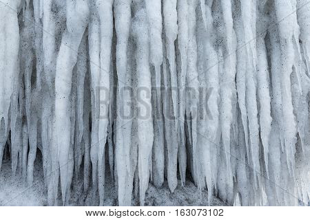 sparkling white ice hanging down ice icicle icy cold winter frost