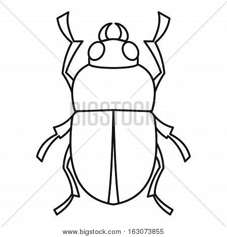 Bug icon. Outline illustration of bug vector icon for web