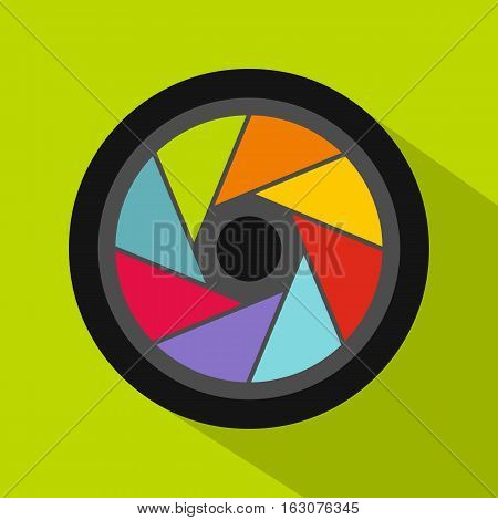 Small objective icon. Flat illustration of small objective vector icon for web