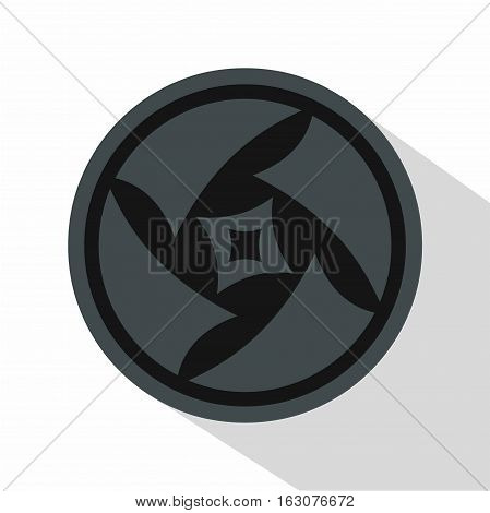 Covered objective icon. Flat illustration of covered objective vector icon for web