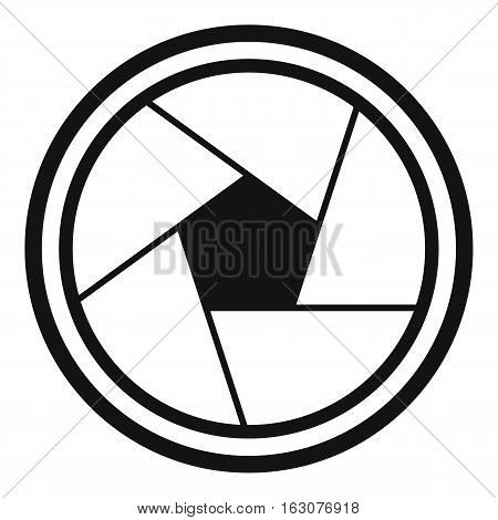 Photo objective icon. Simple illustration of photo objective vector icon for web