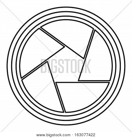 Photographic lens icon. Outline illustration of photographic lens vector icon for web