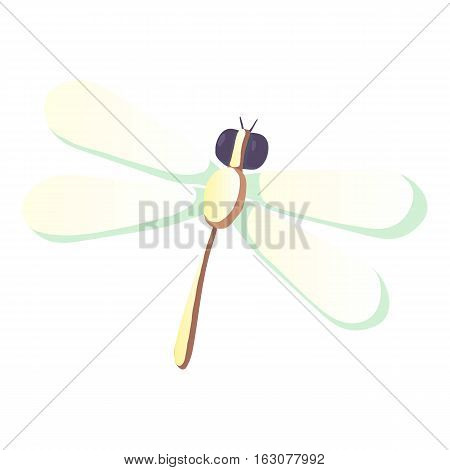 Dragonfly icon. Cartoon illustration of dragonfly vector icon for web